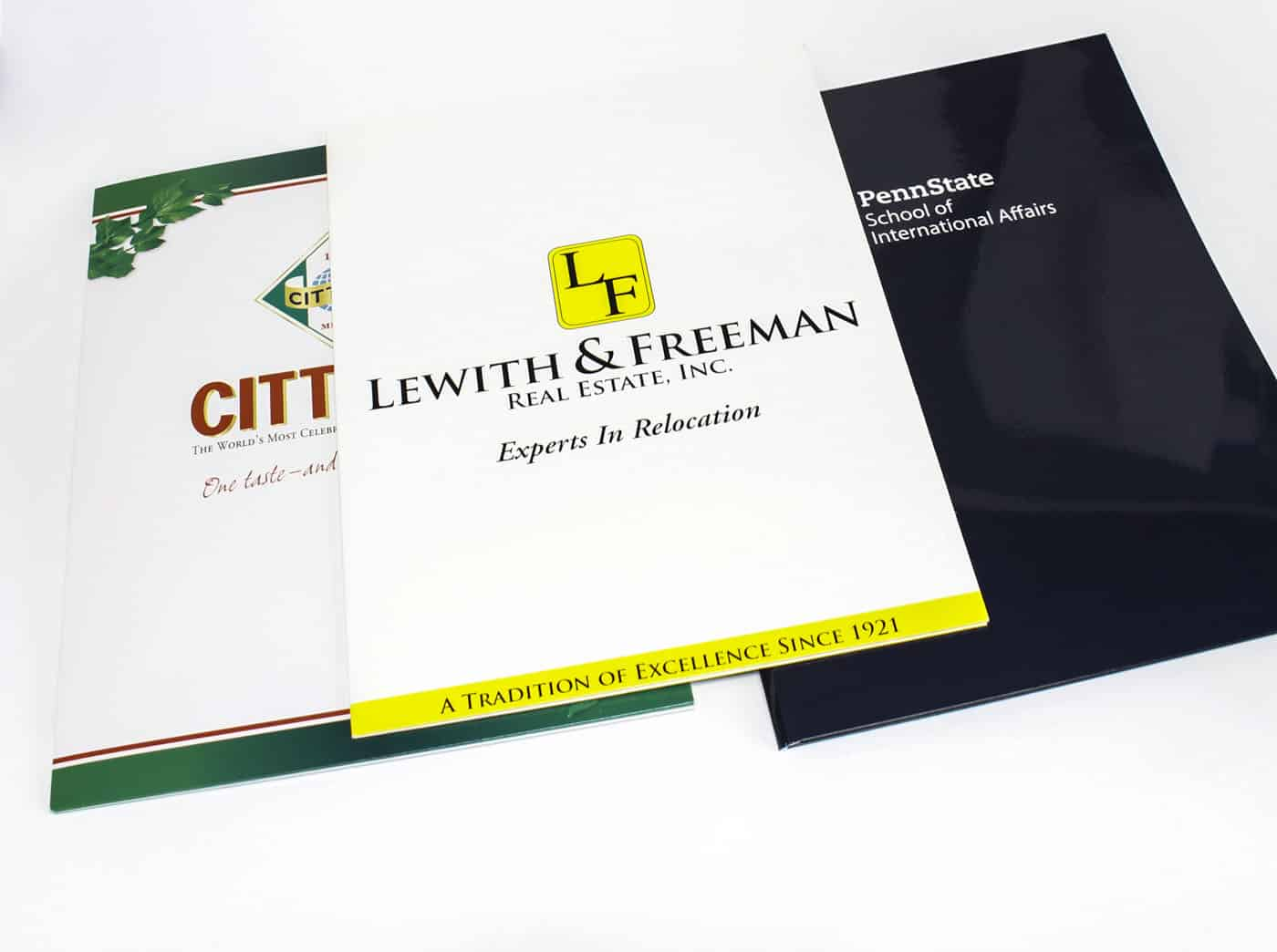 Printed presentation folders impress clients
